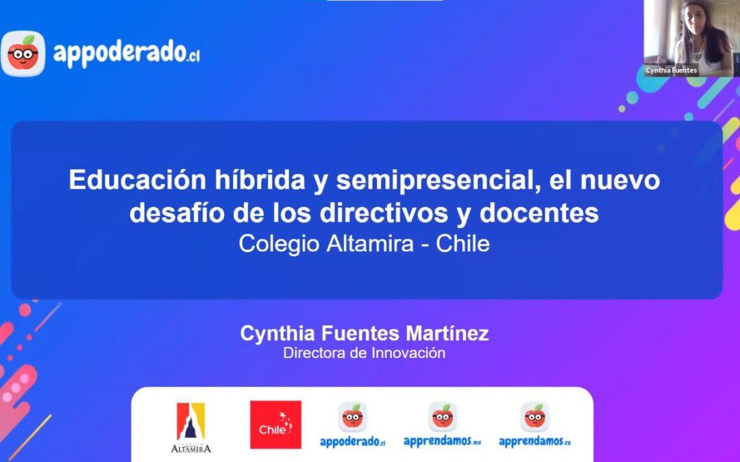 Cynthia Fuentes presenta en webinar app sobre educación híbrida